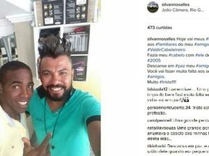 Silvanno Salles prestou homenagens ao cabeleireiro nas redes sociais (Foto: Reprodução / Instagram)