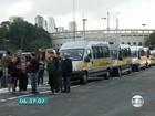 Motoristas de vans escolares fazem protesto nesta quinta-feira em SP