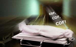 Bêbado acordou dentro de saco plástico em necrotério após ser dado como morto (Foto: Arte/G1)