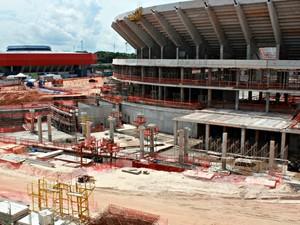 Arena da Amazônia em Manaus (Foto: Isabella Pina/GLOBOESPORTE.COM)