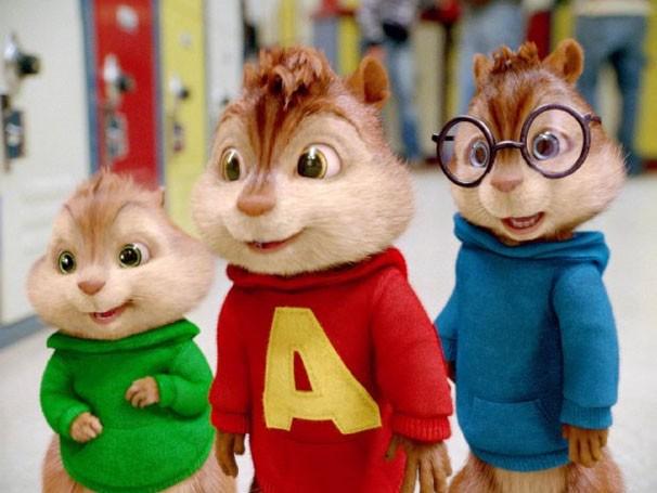 Alvin, Theodore e Simon vão para a escola (Foto: divulgação)