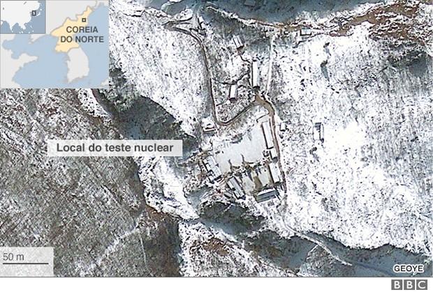 Anunciado nesta sexta, teste foi condenado por vários países e aumenta preocupação com suposto avanço do país na construção de armas nucleares (Foto: BBC)