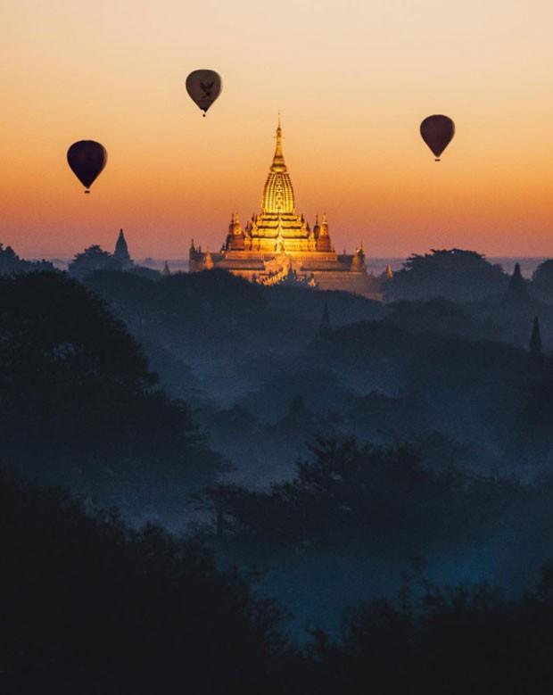 Templo em Bagan, clicado por Raul (Foto: Reprodução/ Instagram @raul)