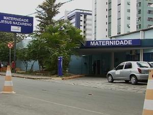 Hospital Maternidade Jesus Nazareno, em Caruaru, Pernambuco (Foto: Reprodução/ TV Asa Branca)