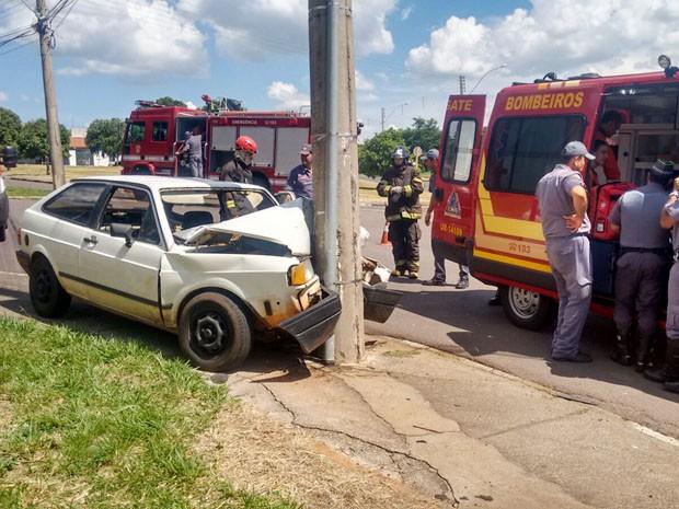 Vítima foi encaminhada ao Hospital Regional (HR) (Foto: Betto Lopes/TV Fronteira)