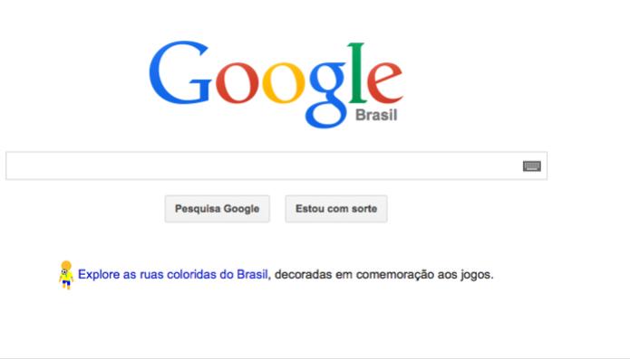 Página do Google também mostra mascote com as cores do país (foto: Reprodução/Tech Tudo) (Foto: Página do Google também mostra mascote com as cores do país (foto: Reprodução/Tech Tudo))