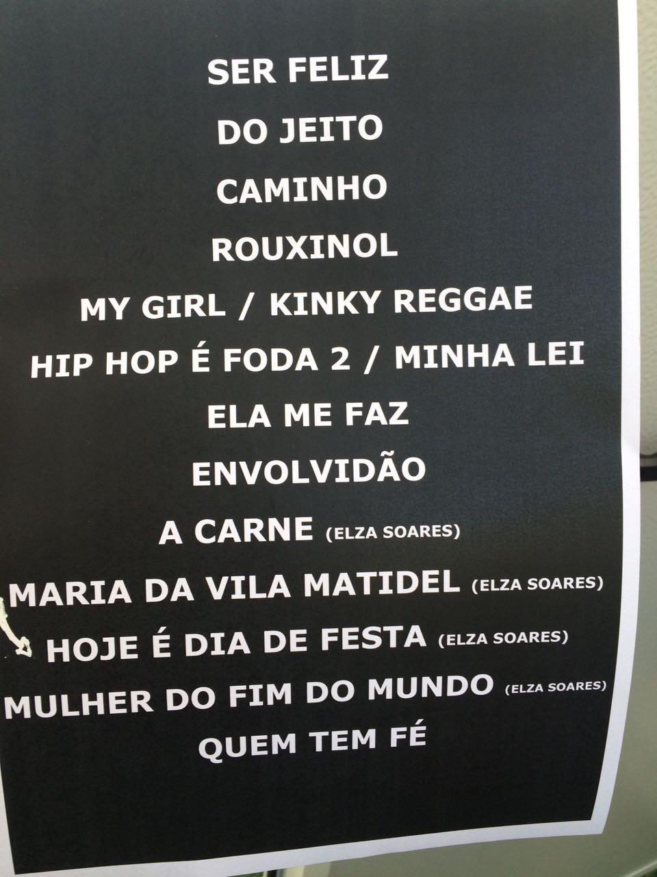 Setlist do penltimo show do Sunset no sbado: Rael convida Elza Soares (Foto: Reproduo)