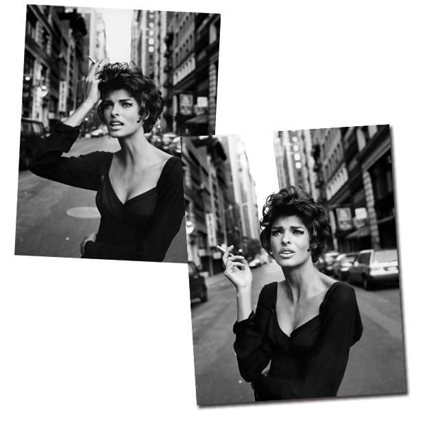Linda Evangelista posa para Vogue italiana na década de 1990  (Foto: Steven Meisel/Reprodução)