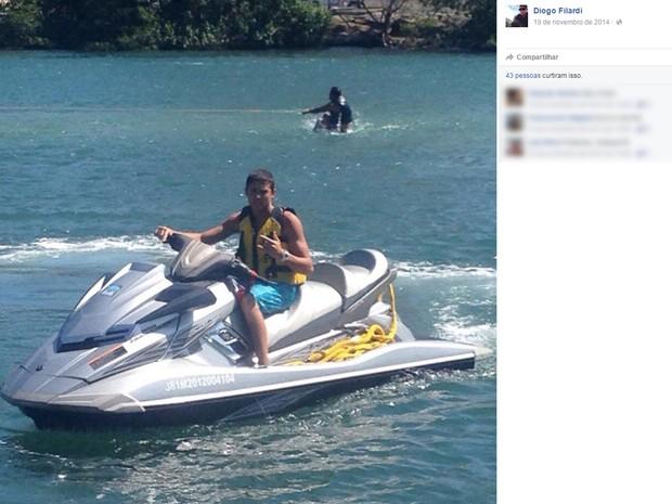 Diogo Filard exibia no Facebook um estilo de vida saudável e rotina de um jovem de classe média da zona sul carioca (Foto: Reprodução / Facebook)