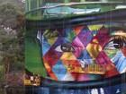 'Quero que Lewis Hamilton veja', diz artista que fez mural gigante de Senna