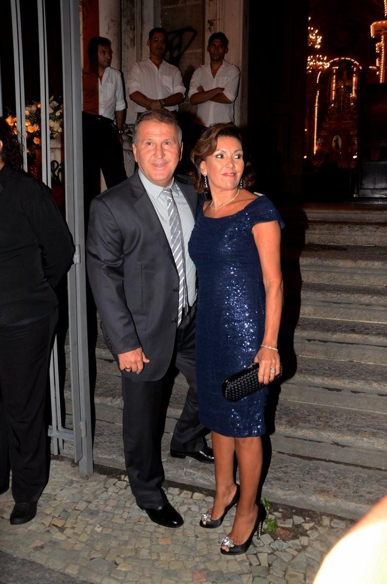 Zico e a mulher, Sandra (Foto: Anderson Borde e Henrique Oliveira/AgNews)