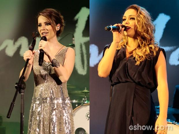 Sandy e Tânia Mara se apresentaram na festa (Foto: Pedro Curi / TV Globo)