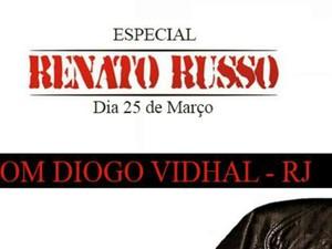Diogo Vidal é cover do Renato Russo há 20 anos (Foto: Divulgação)