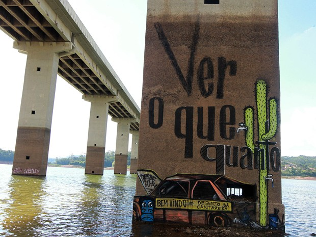 Vista da represa do Atibainha, em Nazaré Paulista, no interior de São Paulo, nesta sexta-feira. O reservatório integra o Sistema Cantareira, que abastece mais de 6 milhões de pessoas na Grande São Paulo.  (Foto: EVELSON DE FREITAS/ESTADÃO CONTEÚDO)