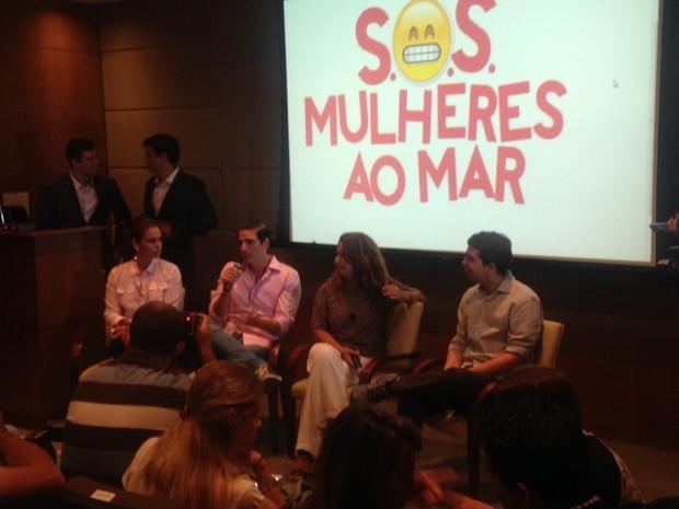 Coletiva SOS Solteiros - Giovana Antonelli e Reynaldo Gianecchini (Foto: EGO)