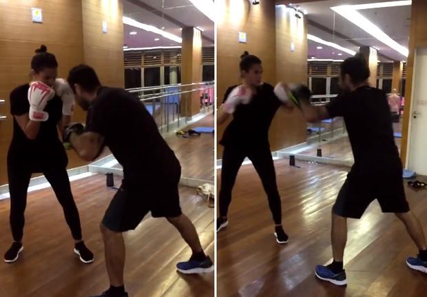 Bruna Marquezine treina com Chico Salgado (Foto: Reprodução/Instagram)