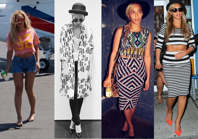 Beyoncé é uma das adeptas da Topshop e veste looks completos da marca, seja para um passeio mais informal ou para uma balada