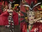 Rayanne Morais faz curativo para não machucar o pé em desfile na Sapucaí