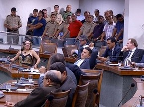 Data base de polícia militar e servidores estaduais é aprovada pela AL (Foto: Reprodução/TV Anhanguera)