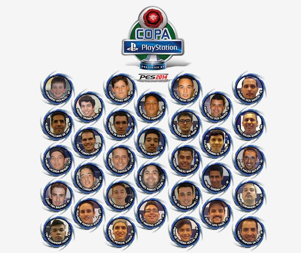 Os 32 finalistas que participarão da Copa PlayStation (Foto: Divulgação/CBFDV)