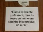 Alunos pregam críticas anônimas em salas de professores da UnB