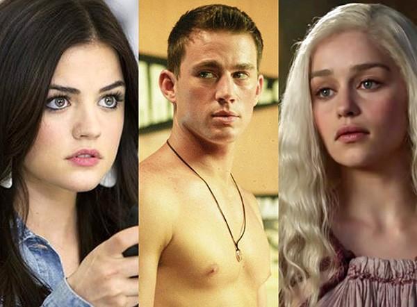 Lucy Hale, Channing Tatum e Emilia Clarke (Foto: Reprodução)