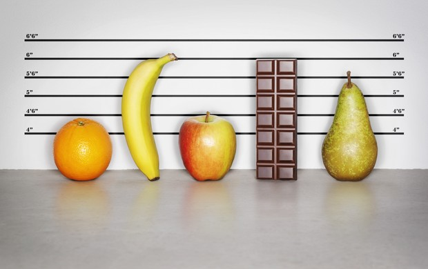 frutas e chocolate banana maça laranja e pêra (Foto: Getty Images)