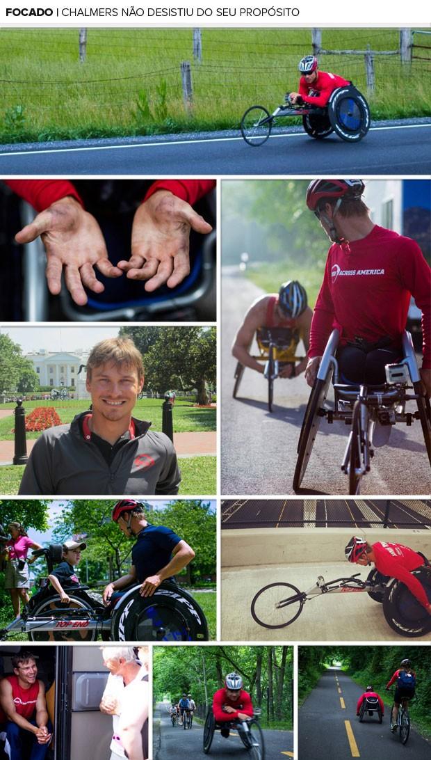 Mosaico Chalmers campeão paraolímpico (Foto: Editoria de arte / Globoesporte.com)