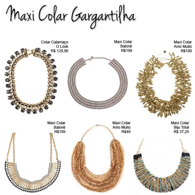 O estilo maxi colar gargantilha é um dos mais usados por Fátima Bernades (Foto: Divulgação)