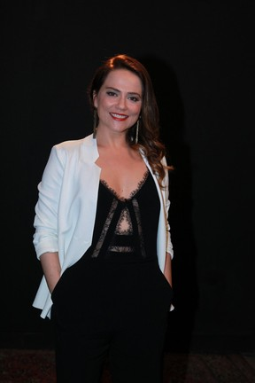Viviane Pasmanter na Coletiva de Totalmente Demais (Foto: Marcello Sá Barreto e Anderson Borde/ Ag. News)