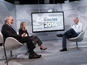 Entrevista com o candidato Zé Maria, do PSTU, nos estúdios do G1 em São Paulo (Foto: Caio Kenji/G1)