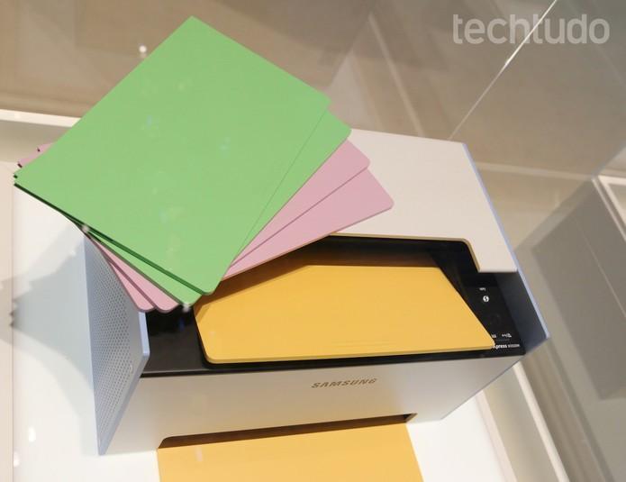 impressora Mate da Samsung (Foto: Fabrício Vitorino/TechTudo)