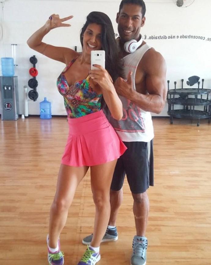 Thais Santiago com o marido, o coreógrafo Rodrigo Oliveira (Foto: Arquivo Pessoal)