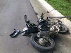 Motociclista com sinal de embriaguez sofre acidente com sobrinho, diz PRF