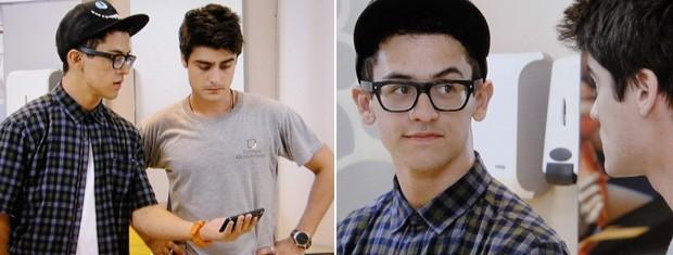 Malandro: Orelha segue Vitor até o banheiro e diz que descobriu o segredo dele (Foto: Malhação / TV Globo)