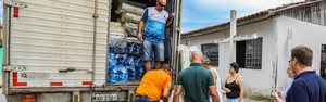 Famílias atingidas pela chuva precisam de doações