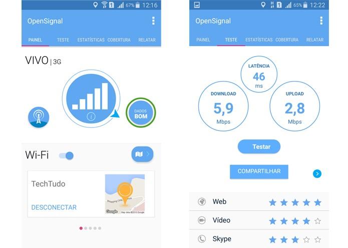 Aplicativo da OpenSignal ajuda a melhorar a qualidade da internet no Celular (Foto: Reprodução/Aline Batista)
