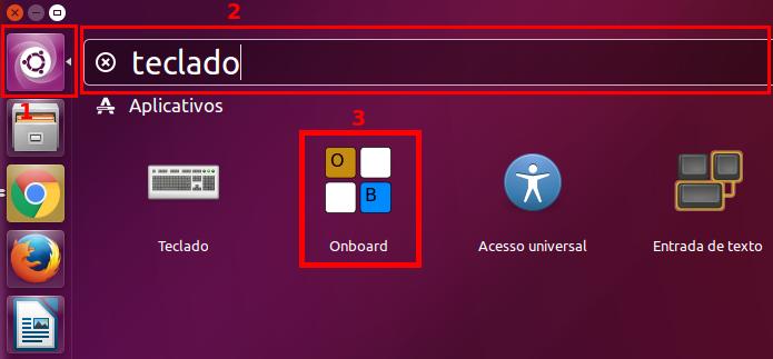 Executando o teclado virtual do Ubuntu a partir do Dash (Foto: Reprodução/Edivaldo Brito)