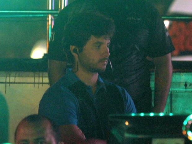Márcio Pedreira, marido de CLaudia Leitte, em bastidores de show em Capitólio, Minas Gerais (Foto: Paduardo/ Ag. News)