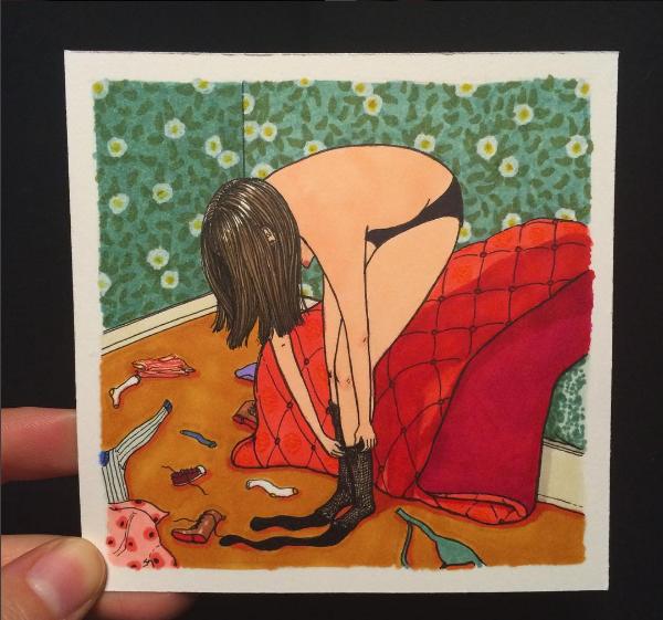 Desenho de Sally Nixon (Foto: Reprodução/Instagram)
