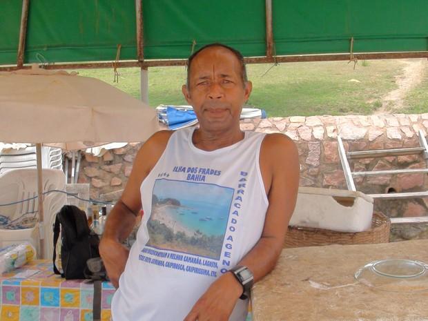 Antônio Moreira, morador da Ilha dos Frades, na Bahia. (Foto: Maiana Belo/G1 BA)