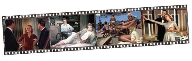 Nas telas: Disque M para matar: Primerio filme (1954) que firmaria a longa e bem- -sucedida parceria entre Grace e Hitchcock. na época, a atriz tinha apenas 25 anos; Janela Indiscreta: no mesmo ano, estrelou no papel de Lisa Carol Fremont, que lhe rendeu a estatueta de melhor atriz no new York Film Critics Circle Awards; Ladrão de casaca: outro clássico de Hitchcock, lançado em 1955, no qual vive par romântico com Cary Grant, um grande ladrão de joias; Alta sociedade: Último filme da carreira de Grace (1956). nele, se divide entre o amor do futuro marido (John Lund), do ex (Bing Crosby) e de um repórter interpretado por niguém menos que Frank sinatra (Foto: Divulgação )