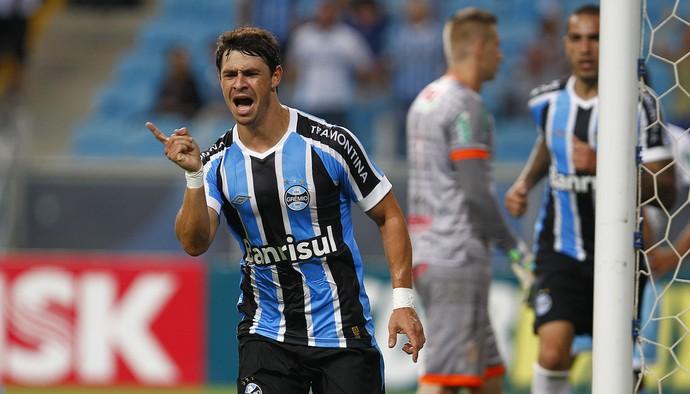 Giuliano comemora gol Grêmio Lajeadense  (Foto: Lucas Uebel/Grêmio )
