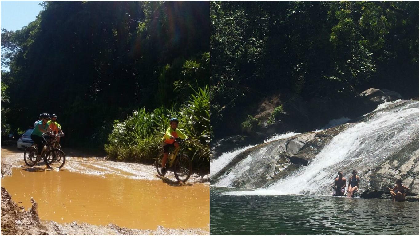 Rota do Sol encara uma aventura de bike até a Cachoeira do Paraíso (Foto: Arquivo Pessoal)