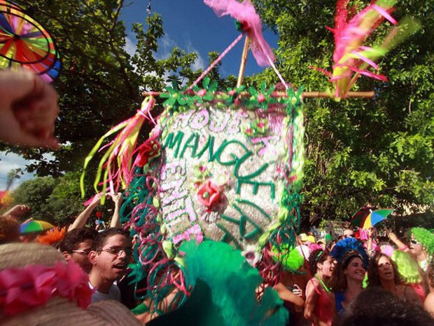 Hoje a mangueira entra surgiu em homenagem à escola de samba carioca. (Foto: Toinho Melcop/ Divulgação)