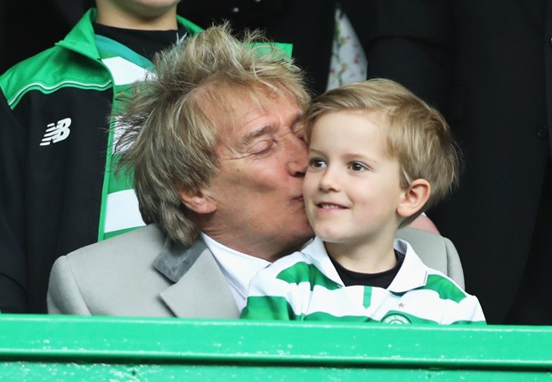 Rod Stewart e Aiden  (Foto: Getty Images)