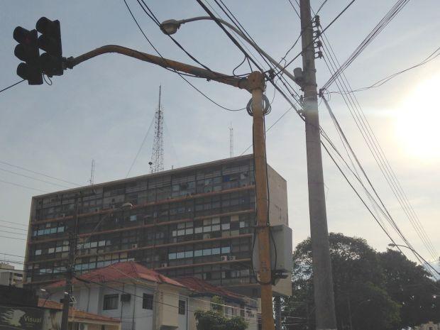 Semáforos pararam de funcionar por causa do calor (Foto: Divulgação / Emdurb)