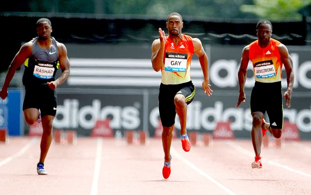 Tyson Gay na prova de atletismo em Nova York (Foto: Getty Images)