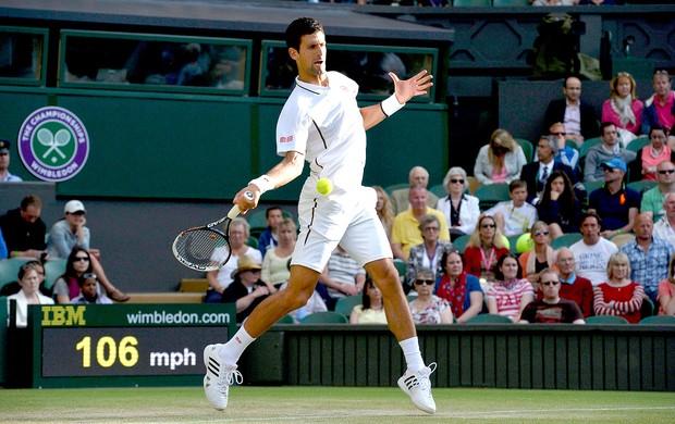 Novak Djokovic tênis contra Tommy Haas em Wimbledon (Foto: Reuters)