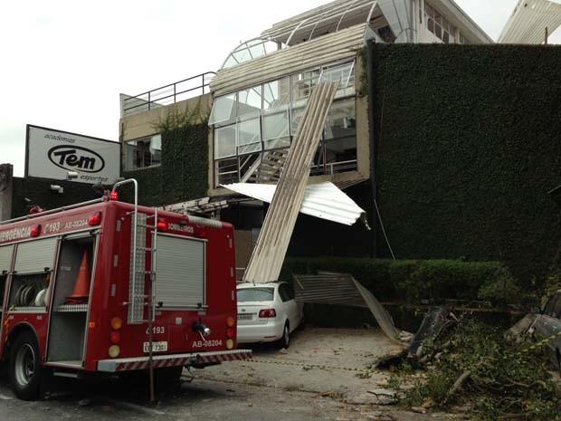 Explosão em academia em São Bernardo do Campo (Foto: Caio Prestes/G1 São Paulo)